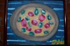 Técnica de Óleo sobre lienzo  Título: Pizza completa