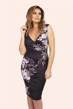 dd16f97e Buy Jessica Wright Black Floral Print Wrap Dress from the Next UK online  shop