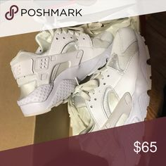 White Nike Huraches Used white nike huraches  Sz 4Y  Comes with box; just needs a good wash! Nike Shoes Sneakers