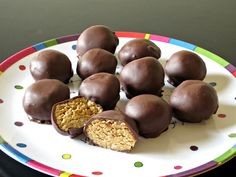 Healthier Peanut Butter Balls | Love to be in the Kitchen