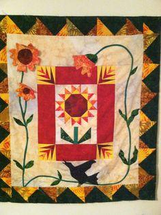 My Sunflower Round Robin quilt..FCQG 2003