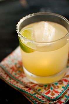 *Fresh* Skinny Margarita - without the uber-sugary premade mix! Includes fresh-squeezed lime & orange, and a touch of agave nectar for sweetness. My new summer drink!