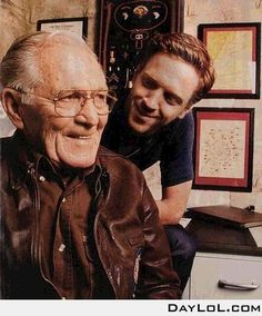 Damian Lewis and Dick Winters (Band of Brothers).  How cool is this?