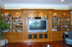 Custom entertainment center/ bookcase