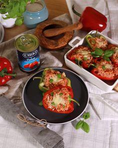 Ardei umpluți în stil italian Italian Cooking, Caprese Salad, My Recipes, Mozzarella, Blog, Italian Cuisine, Blogging, Insalata Caprese