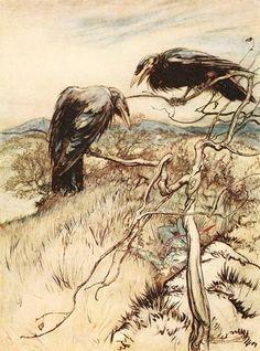 Twa Corbies by Arthur Rackham