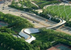 Its day two in our Christmas countdown of contemporary bridges. For the letter B, it's Frank Gehry's a serpentine structure between two Chicago parks