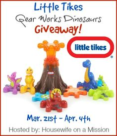 Little Tikes Gear Works Dinosaurs | Review   A Giveaway