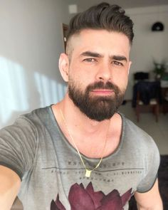 Pin For Trend Presented Short Haircuts And Beard Designs For Modern Men's - Hairstyles And Beards 2019 - 2020 (Latest Hairstyles And Beard Images) Beard Styles For Men, Hair And Beard Styles, Hair Styles, Medium Beard Styles, Great Beards, Awesome Beards, Moustache, Latest Hairstyles, Cool Hairstyles