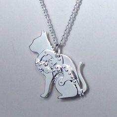 Gear Cat kinetic jewelry
