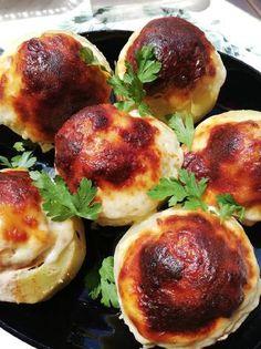 Mozzarella, Baked Potato, Sprouts, Potatoes, Baking, Vegetables, Ethnic Recipes, Potato, Bakken