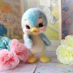 羊毛フェルトで作りました「青い鳥さん」です。|ハンドメイド、手作り、手仕事品の通販・販売・購入ならCreema。