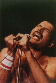 He always sang with such passion <3 Freddie Mercury