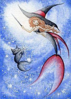 Mermaid Drawings, Mermaid Tattoos, Mermaid Paintings, Mermaid Artwork, Sirens, Mythical Creatures, Sea Creatures, Mermaid Cat, Mermaid Tears