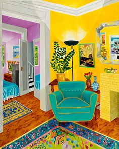 Many Options by Roxa Smith, 2009 Interior Design Renderings, Inside Art, Living Room Chairs, Cool Artwork, Art Decor, Home Decor, Home Art, Architecture, Design Inspiration