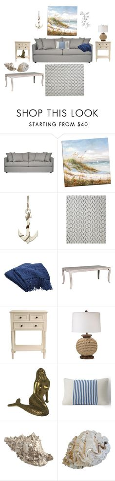 """""""Calming"""" by diana-evans-1 on Polyvore featuring interior, interiors, interior design, home, home decor, interior decorating, Stratton Home Décor, Williams-Sonoma, Crate and Barrel and Kosas Home"""