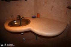 Tadelakt stone nassau orange shower lobouw tadelakt bathroom
