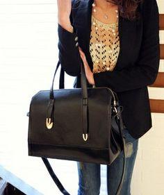 Fashion Black Handbag. Love this bag.