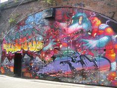 PICHI AVO On Houston Bowery Graffiti Wall New York USA - Beautiful giant murals greek gods pichi avo