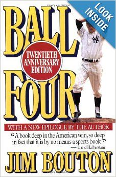 Ball Four is a book written by former Major League Baseball pitcher Jim Bouton in 1970. The book is a diary of Bouton's 1969 season, spent with the Seattle Pilots (during the club's only year in existence) and then the Houston Astros following a late-season trade. - Wikipedia #sportsnovels