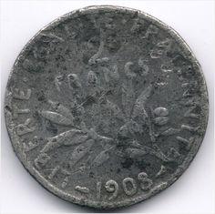 France 2 Francs 1908 Forgery Veiling in de Frankrijk,Europa (niet of voor €),Munten,Munten & Banknota's Categorie op eBid België