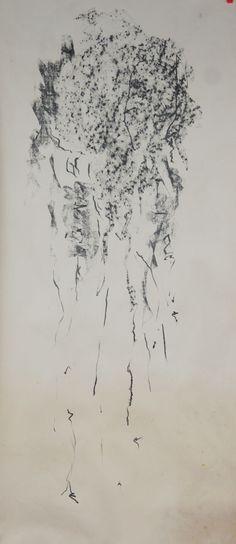 Méduse (Desenho),  100x45 cm por Maria Antónia Santos Grafite sobre papel
