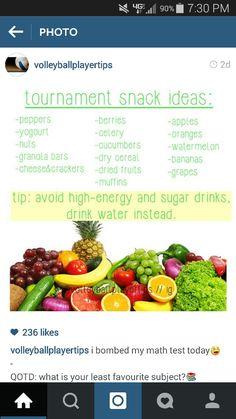 Volleyball tournament snacks