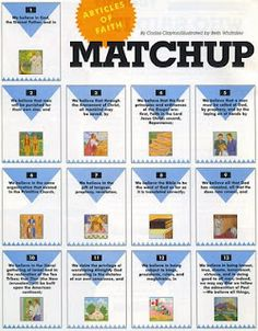 Articles of Faith Matching Game (half & half)