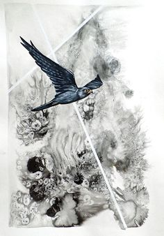 Available for sale online from StateoftheART, Kestrel, a bird painting by Liffey Joy, mixed media on paper size 42 x 59 cm unframed. Figurative Art, Online Art Gallery, Paper Art, My Arts, African, Joy, Birds, Abstract, Kestrel