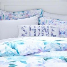 Inspired by vibrant kaleidoscope patterns, this cool-hued duvet cover and sham elevate your sleeping space's character. Made with pure organic cotton, you'll stay comfy and warm each night. King Bedding Sets, Luxury Bedding Sets, Comforter Sets, Modern Bedding, King Comforter, Modern Bedroom, Toddler Comforter, Dorm Bedding, Linen Bedding