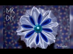 Kanzashi #17 - Triple petal - YouTube