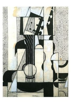 Stillleben mit Gitarre / Still Life with Guitar // by Juan Gris Cubist Artists, Cubism Art, Pablo Picasso, Art Blanc, Francis Picabia, Georges Braque, Pics Art, Sonia Delaunay, Poster Prints