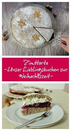 Zimttorte – so köstlich – Schnelle Rezepte aus meiner Küche This cinnamon cake is a family classic: you can find it on our coffee table every year during Christmas and winter. It looks great, but is really easy to prepare. Quick Recipes, Sweet Recipes, Cake Recipes, Dessert Recipes, German Cake, Cinnamon Cake, Cake & Co, Christmas Baking, Christmas Recipes