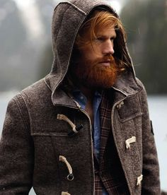 Great use of subtle color in the plaid blazer - complements the fantastic beard with hints of dark orange