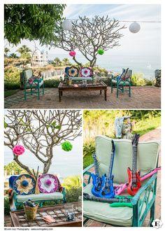 The wedding coordinator did a wonderful job with the wedding reception area set up at La Gran Villa - Villa Amor wedding venue- Sayulita, Mexico
