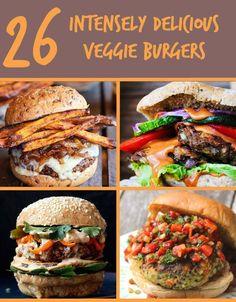 26 hamburgers végétariens qui feront de la viande une question de sa grande existence