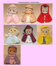 Sylvanian Families NEW clothes 1 HOODED CAPE FOR MUM OR CHILD - SEE SELECTION
