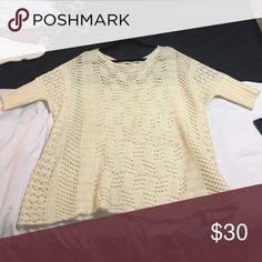 BCBG Maxazria Cozy Sweater Excellent condition size S/M but can fit a L or XS too based on how you want it to hang BCBGMaxAzria Sweaters Crew & Scoop Necks