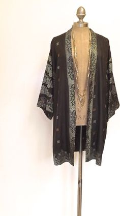 Pure Silk  Kimono jacket / cover up by Bibiluxe on Etsy, £85.00