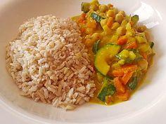 Zucchini-Kichererbsen-Curry