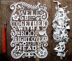Paper lettering