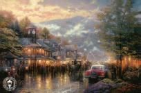 "Thomas Kinkade (deceased) Dealer Exclusive HYDE STREET AND THE BAY Postcard 5x8"" *FREE SHIPPING!*"