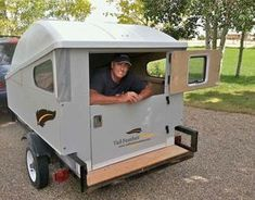 The MINI provides a simple, affordable, customizable camping trailer option Motorcycle Trailer, Motorcycle Camping, Ural Motorcycle, Used Camping Trailers, Camper Trailers, Camping Trailer Diy, Airstream Camping, Diy Camping, Camping Hacks