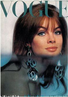 July 1966 - UK Vogue  At Sea At Sea At Sea  Cover Model: Jean Shrimpton  Photographed by Duffy