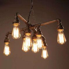 Warehouse of Tiffany Twinkle Antique Bronze Edison Light Chandelier with Bulbs (Twinkle Bronze Chandelier with Bulbs) (Metal) Edison Light Chandelier, Edison Lampe, Bronze Chandelier, Vintage Chandelier, Edison Bulbs, Chandeliers, Pulley Light, Country Chandelier, Home
