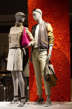 Coach featuring Schlappi mannequins provided by DK Display  #visual #merchandising #mannequins