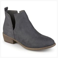 Journee Collection Womens Round Toe Faux Suede Boots Gray 7.5 (*Partner Link)
