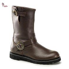 Demonia Steam - gothique Steampunk biker cuir bottes chaussures unisex 39-46, US-Herren:EU-41/42 (US-M9) - Chaussures demonia (*Partner-Link)