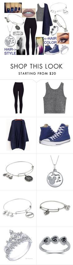 """""""#13✨"""" by kenziebandgeek ❤ liked on Polyvore featuring WithChic, Converse, Alex and Ani, Disney and Bony Levy"""