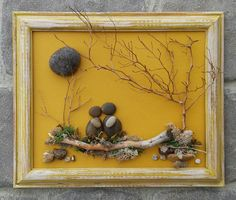 Un galet de verre Art Art rupestre galet Art Couple Art
